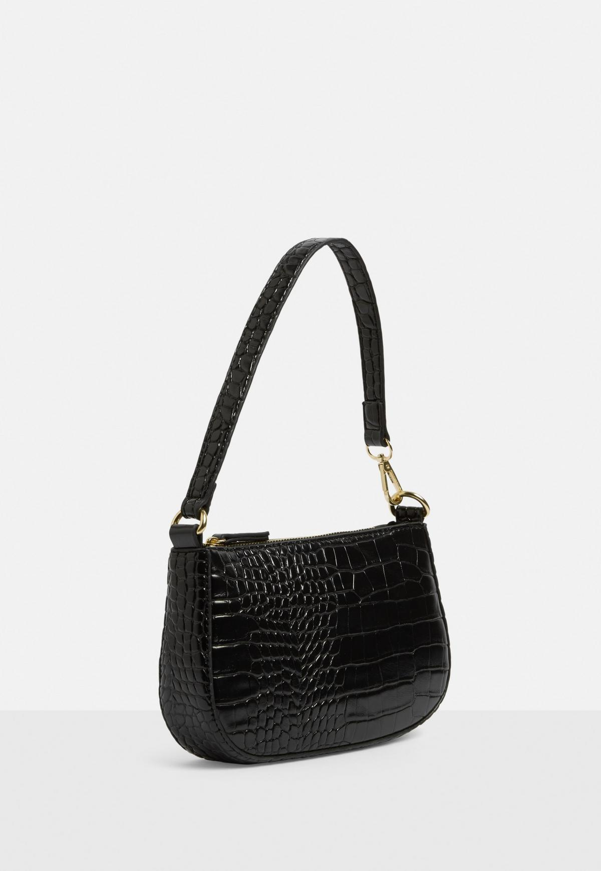 Discount Black leather flap-over shoulder bag   SECRETSALES