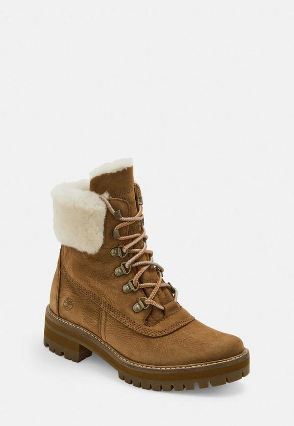 Timberland Rust Courmayeur Valley Shearling Boots