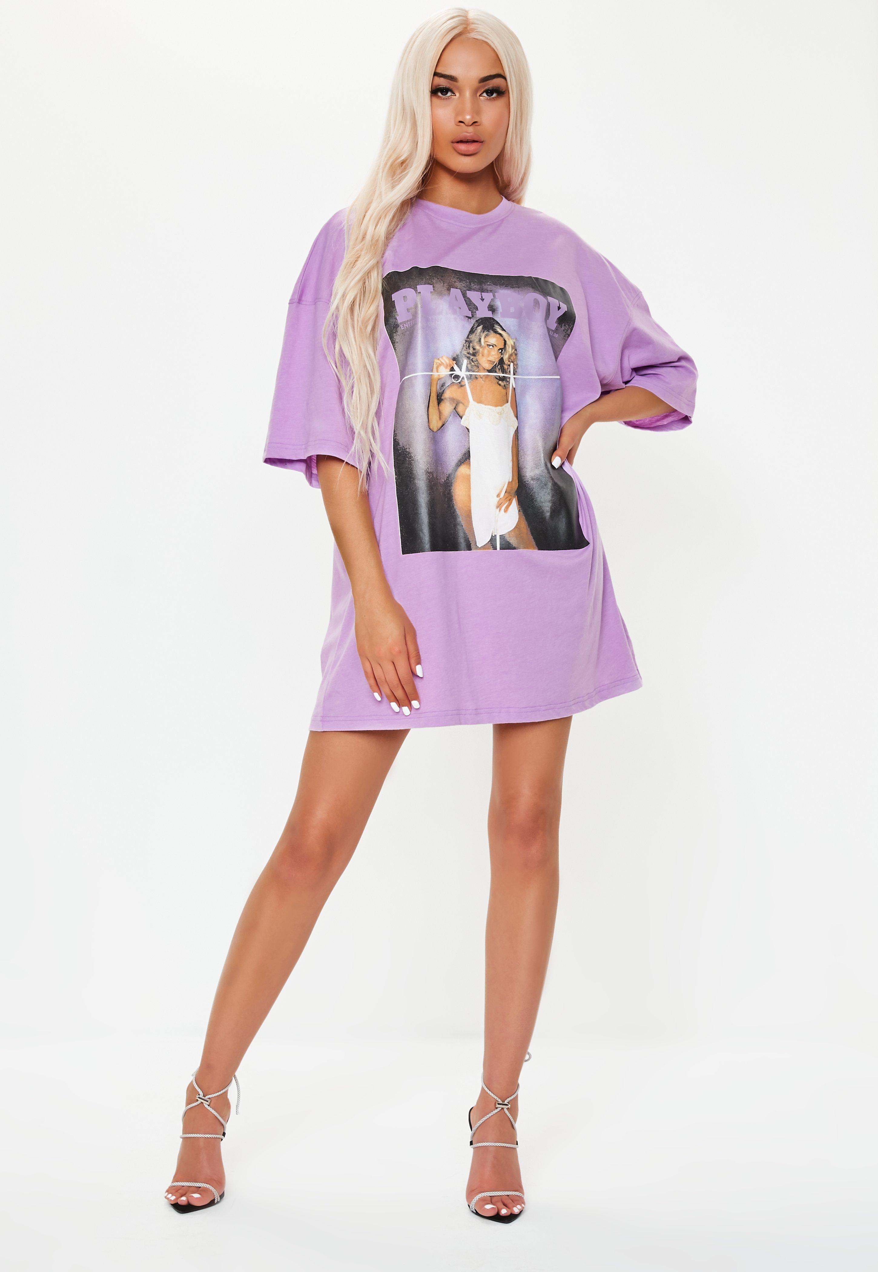 purple tshirt dress