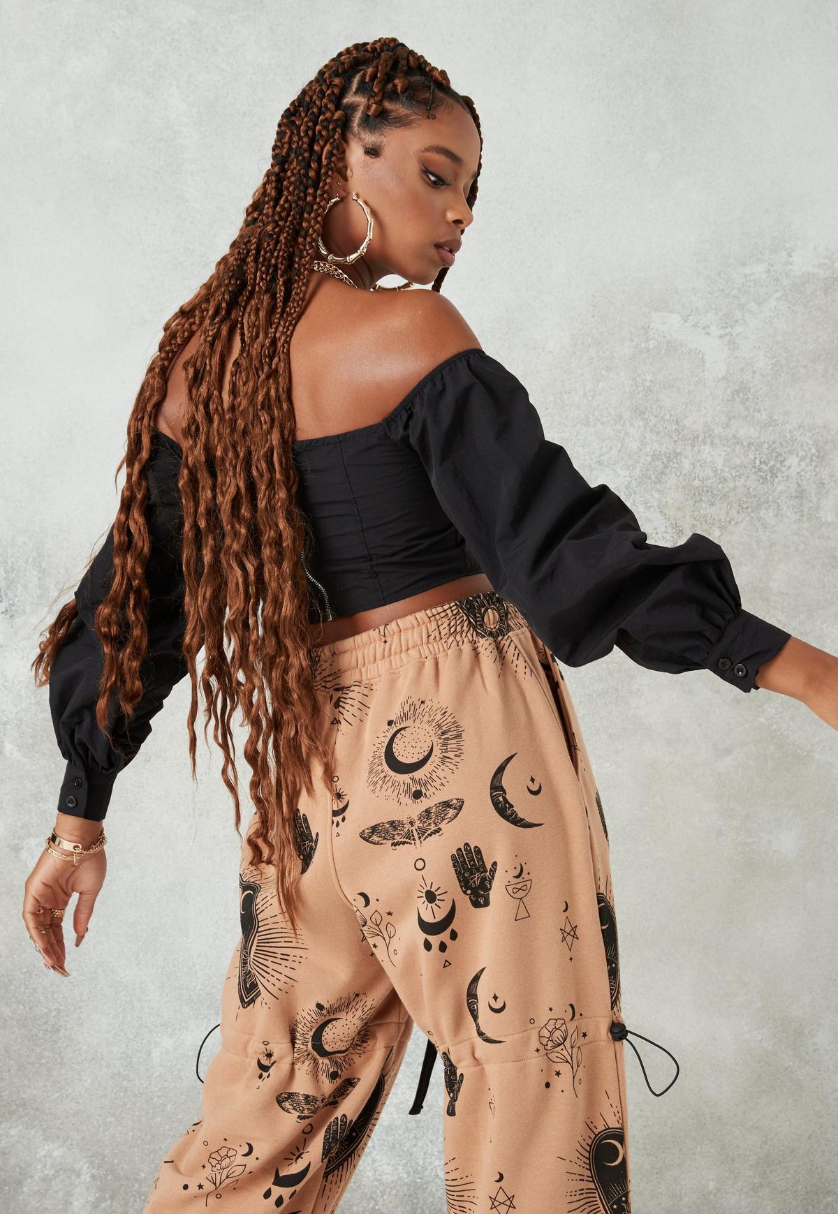 Shop Bardot Frill Trim Corset Belt Top online. SheIn