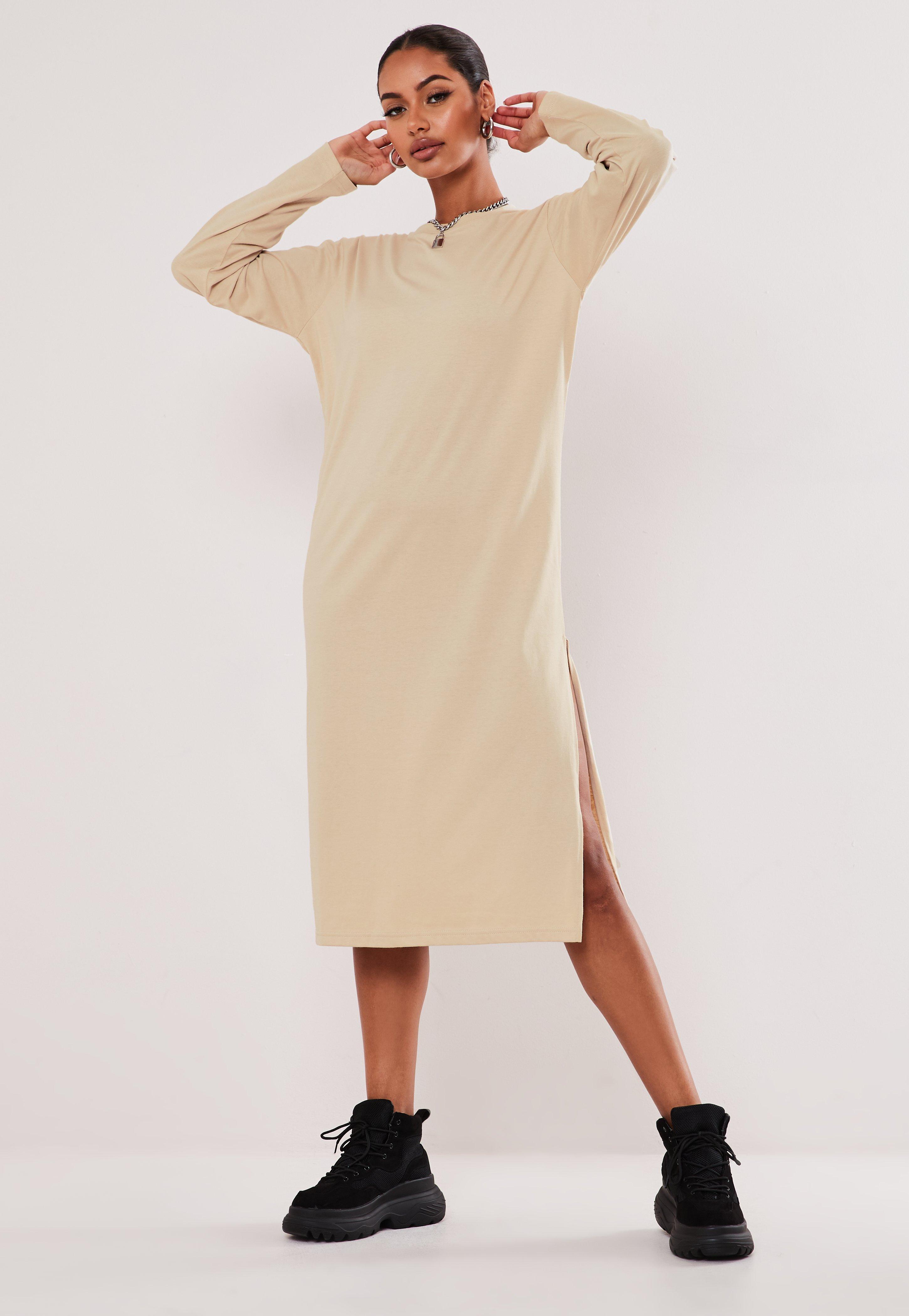t shirt dress midi length