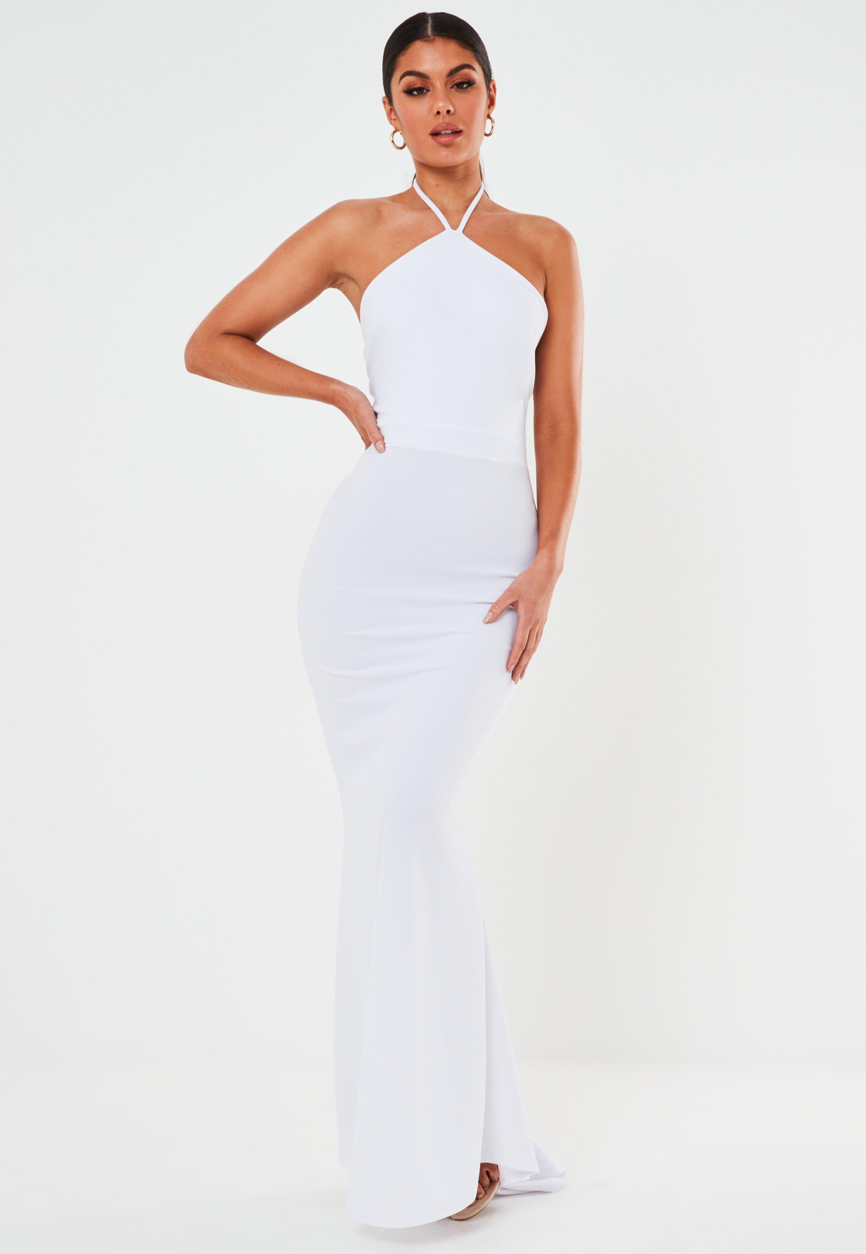white halter neck dress off 18   medpharmres.com