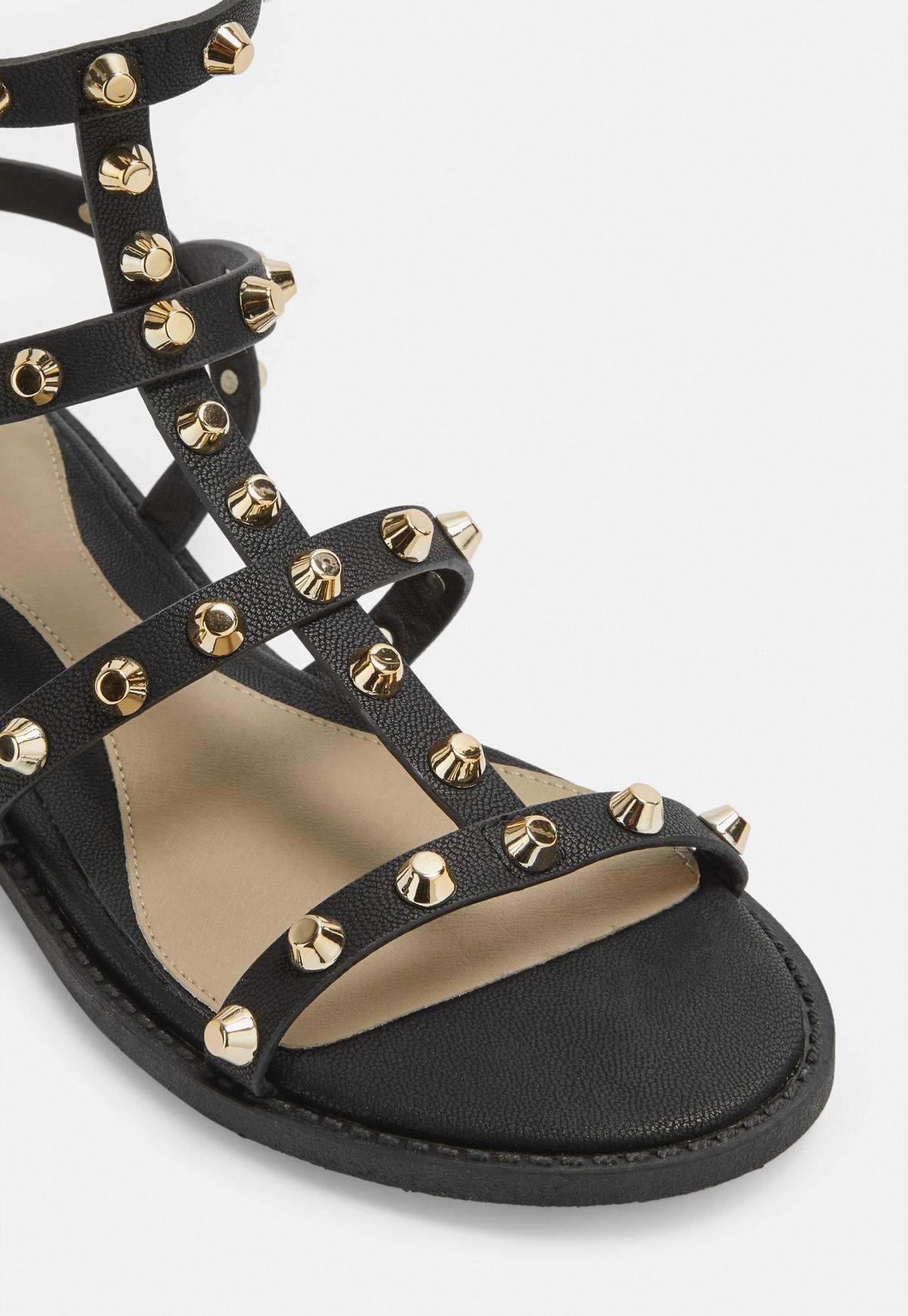 czarne sandały gladiatorki missguided