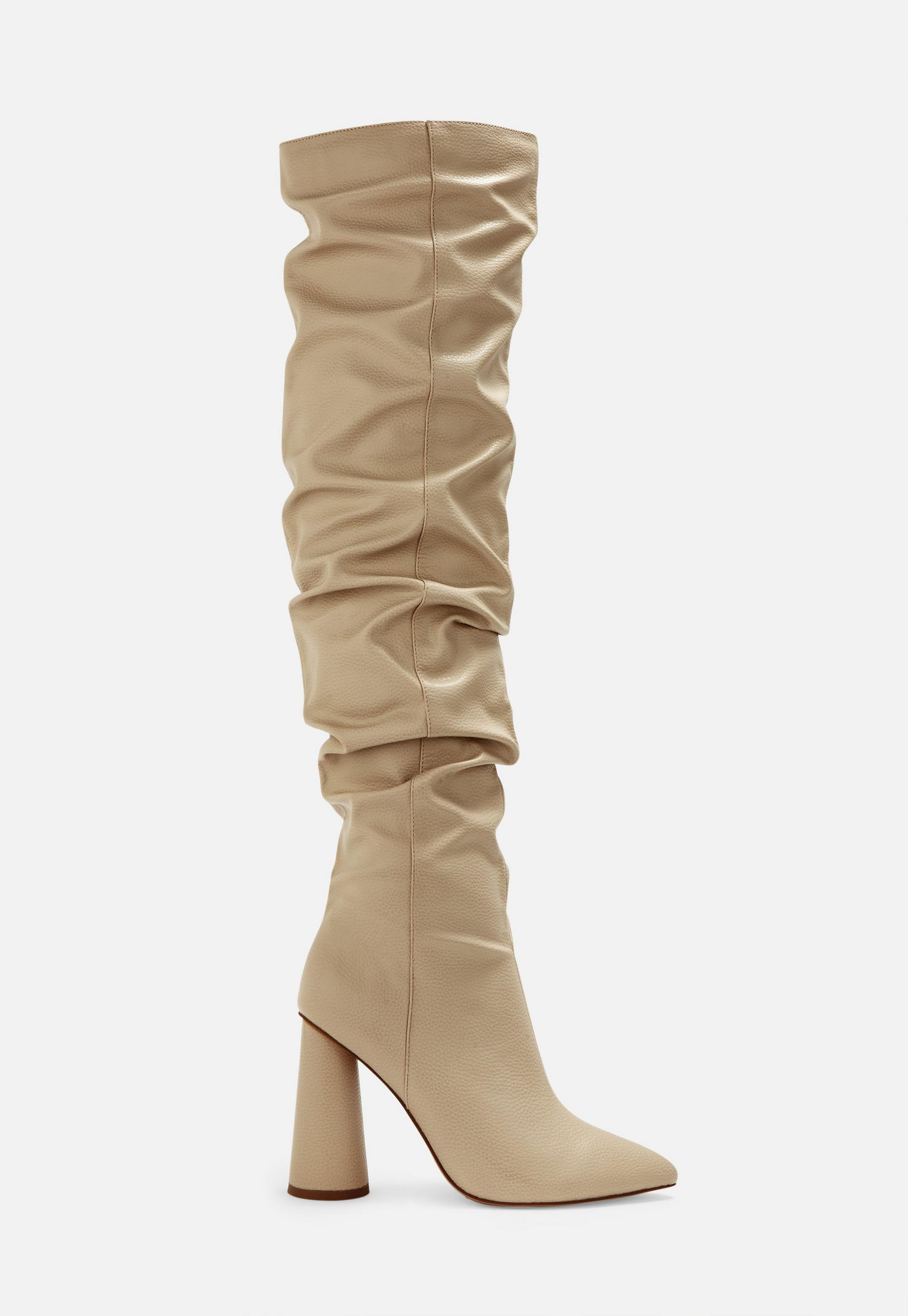 J. Adams Gorgeous Lace up Over The Knee Boot - Vegan Suede