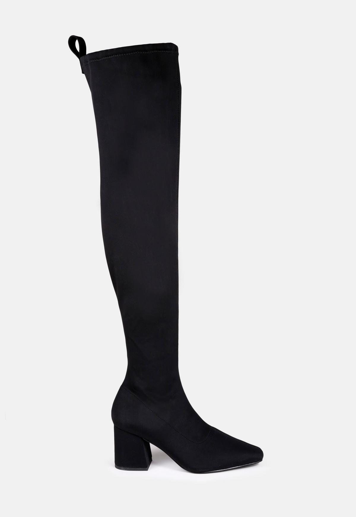 Over The Knee Mid Heel Boots