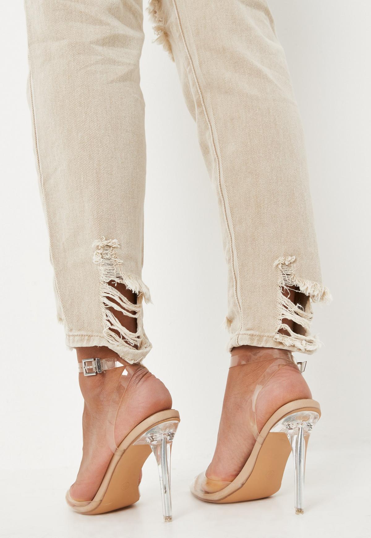 Sand coloured jeans