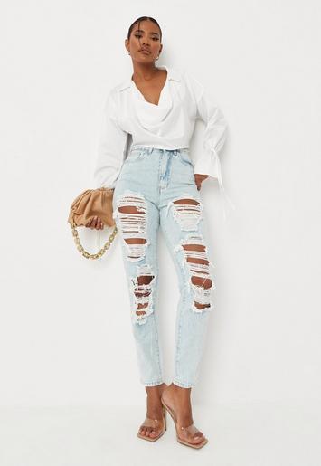 Miss Grant Pale Blue Denim Jeans Size 36 8-9yrs