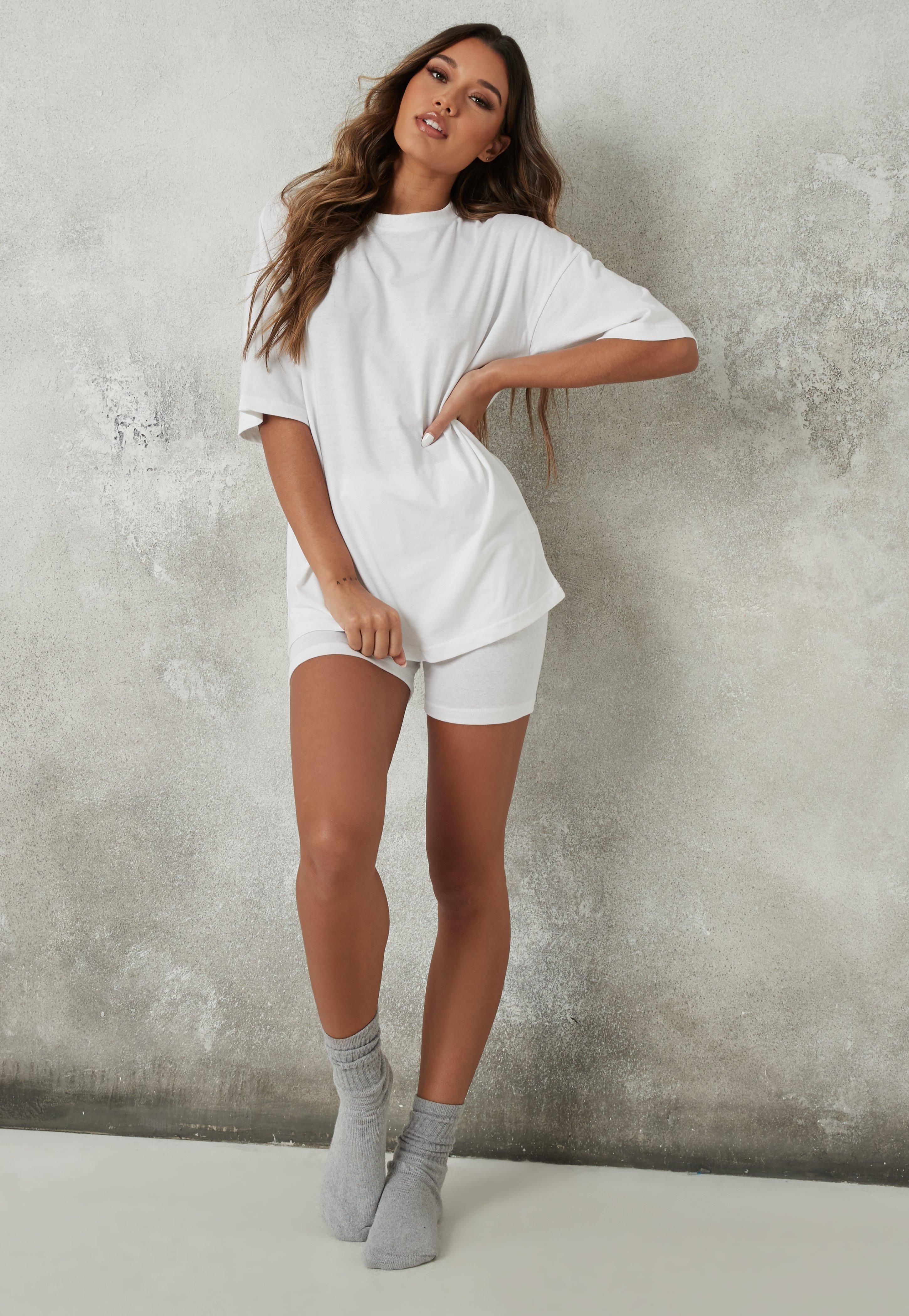 oversized t shirt with cycle shorts