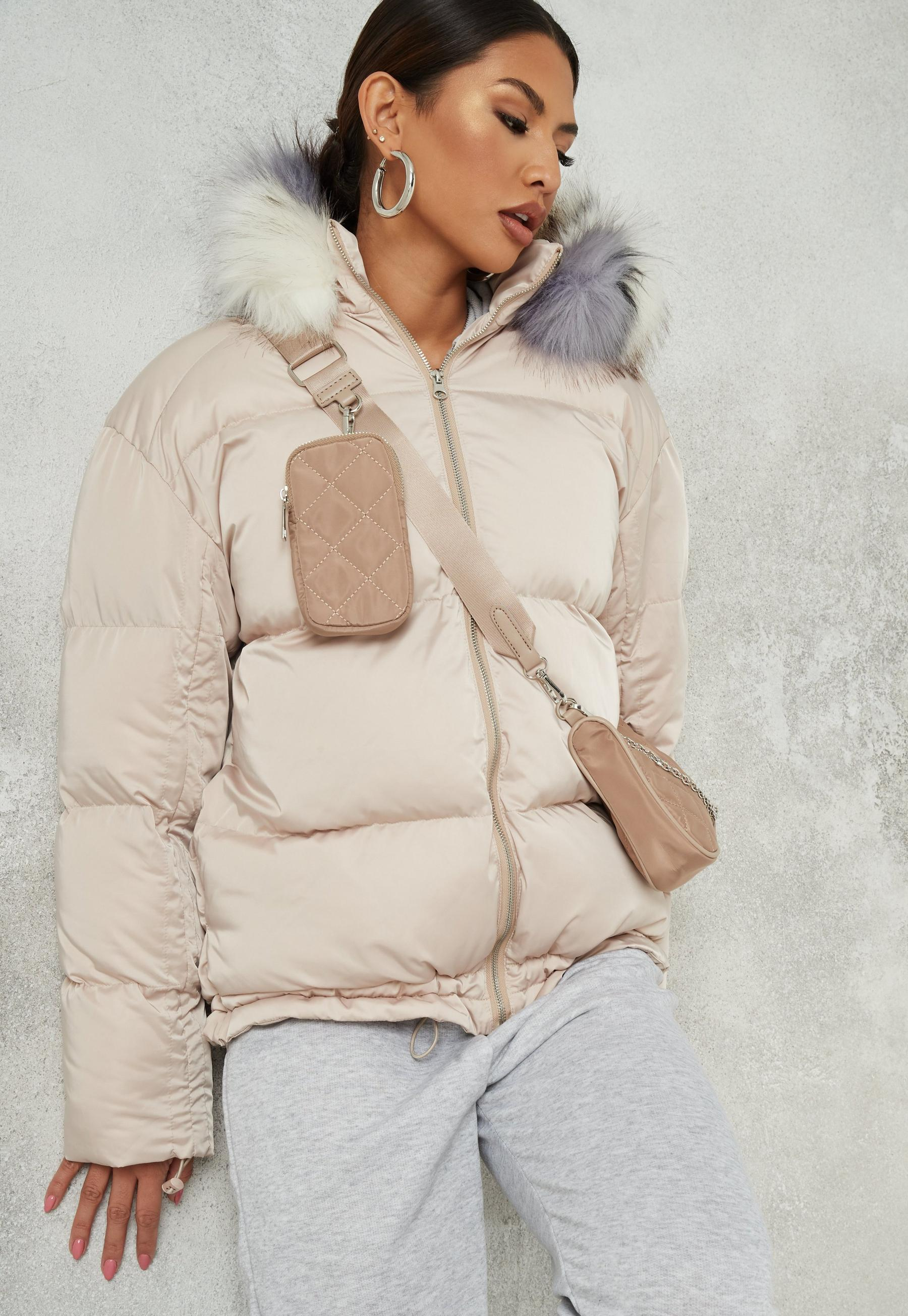 Nude Faux Fur Gilet | Coats & Jackets | PrettyLittleThing
