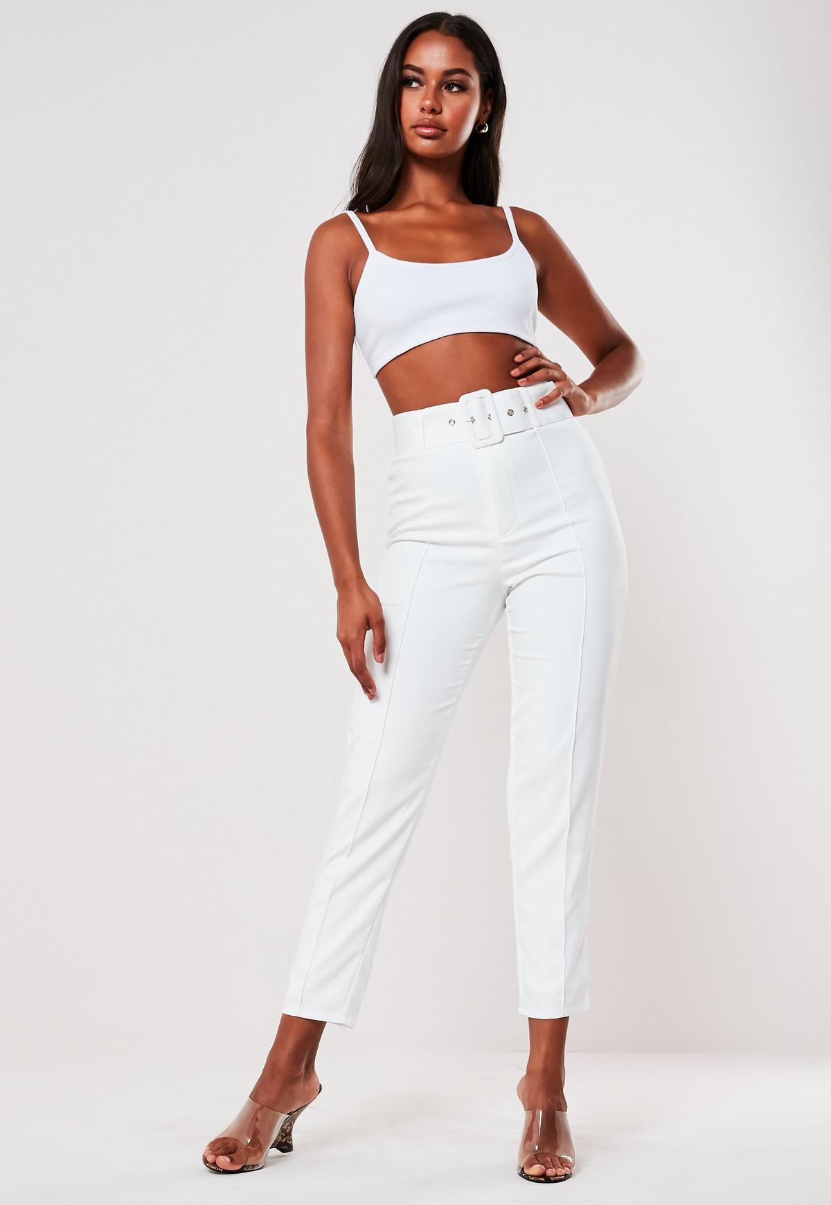missguided pantalon taille haute