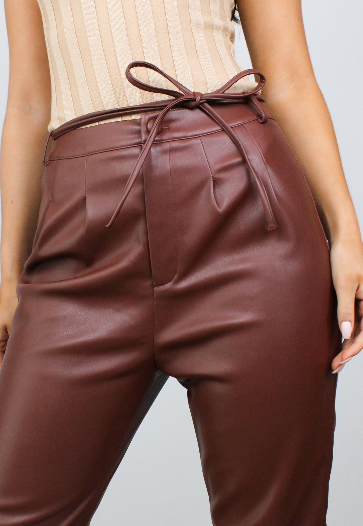 Missguided - Black Faux Leather Belt Detail Shorts in 2020