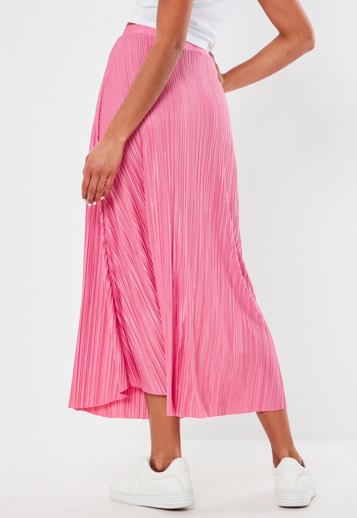 Długa różowa spódnica plisowana Bakko Vox Róż | Modema.pl