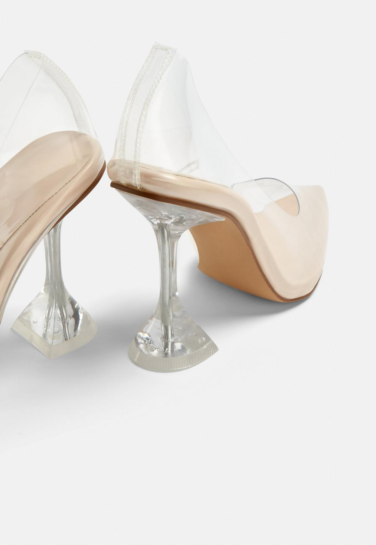 PUBLIC DESIRE Keely Clear Detail Pumps | Nudevotion.com