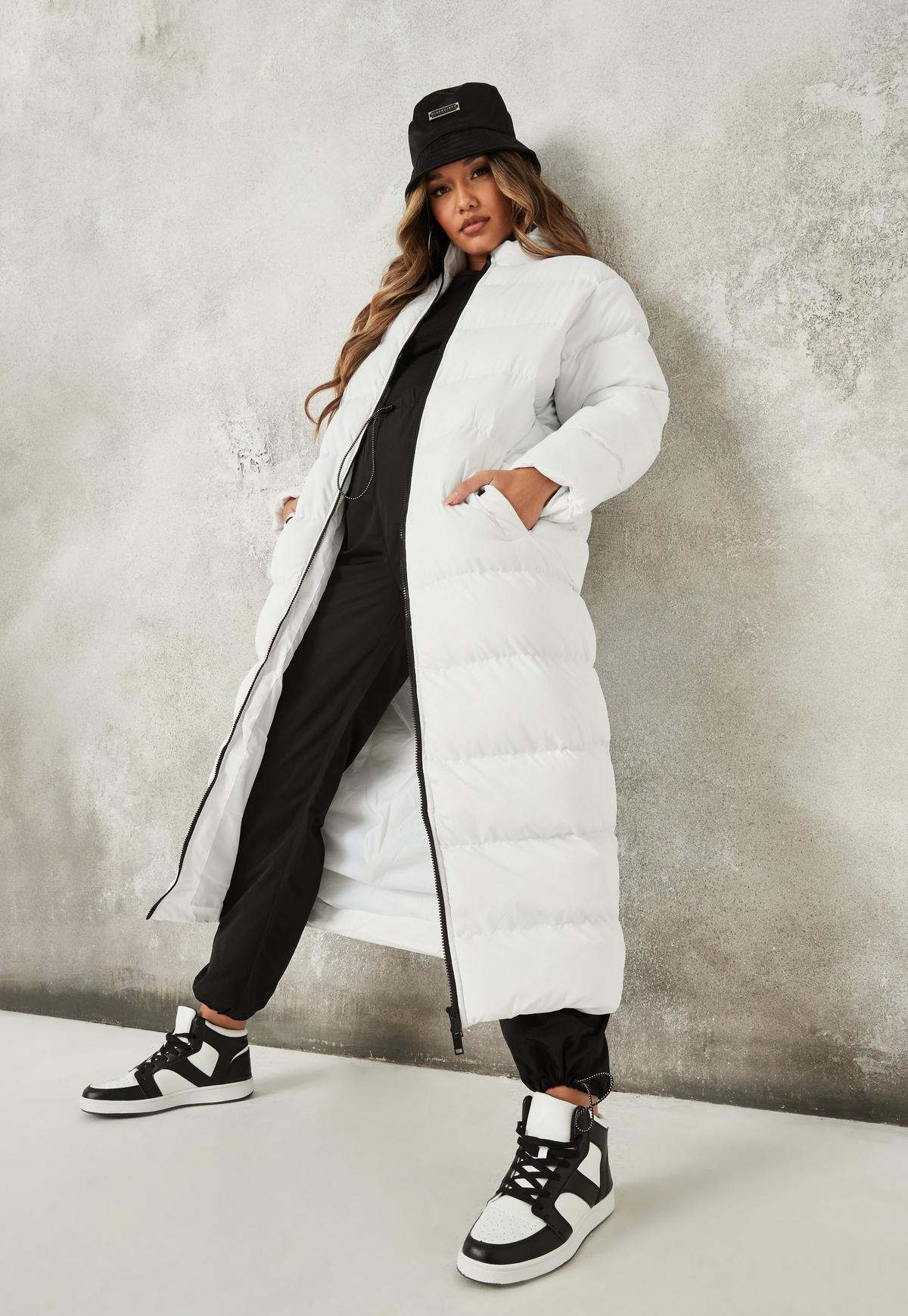 White Maxi High Neck Padded Puffer Jacket | Missguided