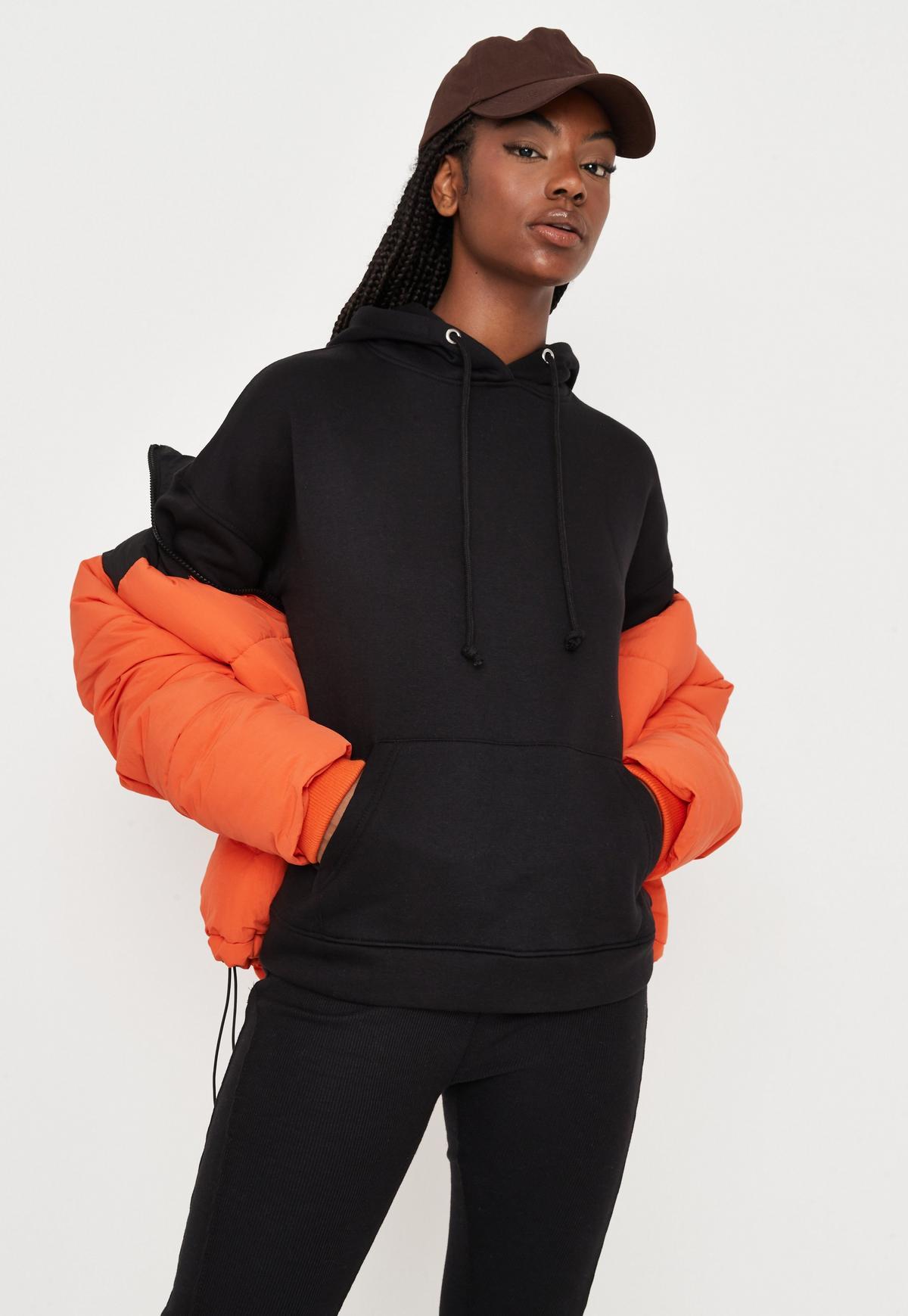 black oversized basic hoodie