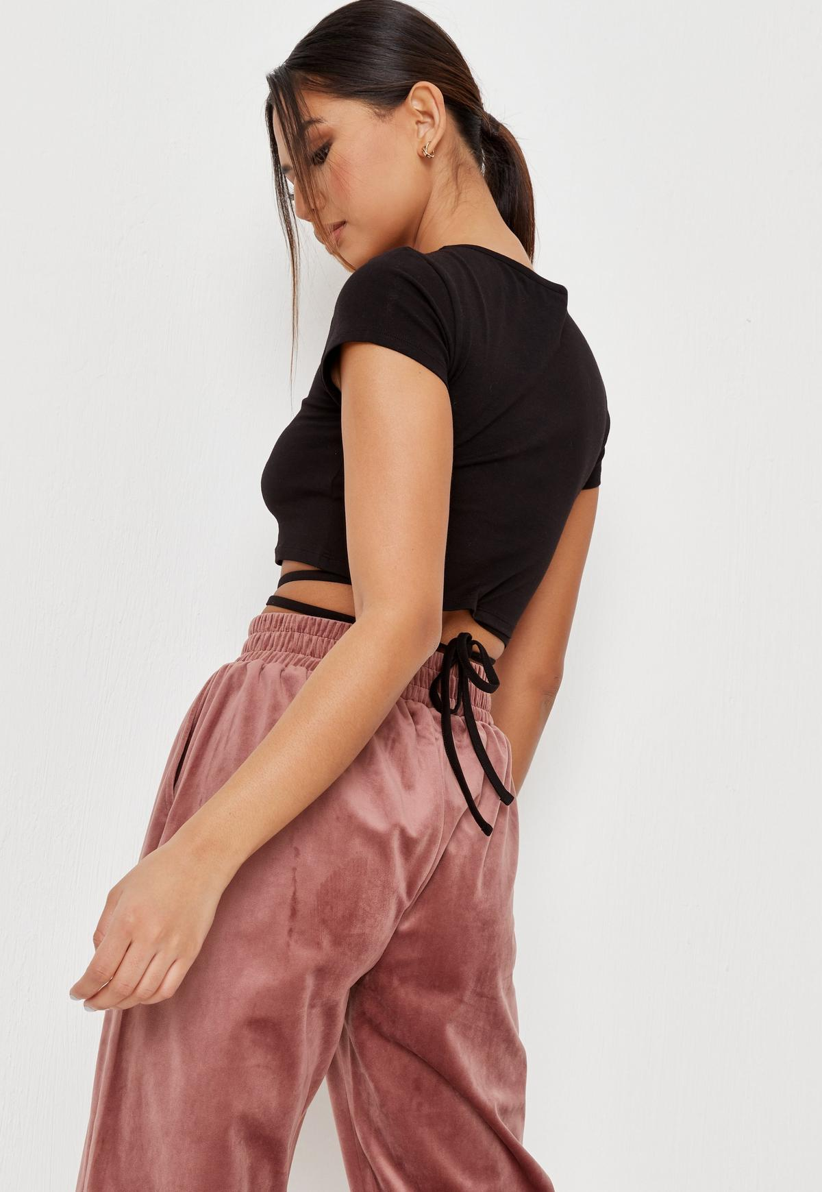 Black Lover Graffiti Graphic Lace Up Crop Top   Missguided