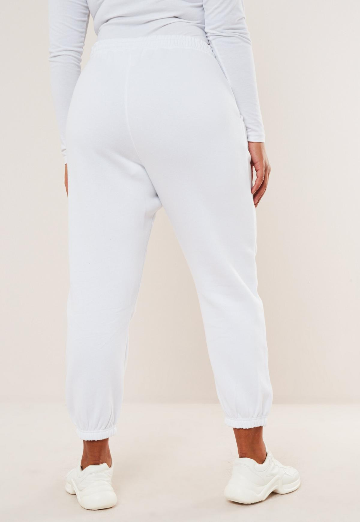 Jogging blanc oversize style années 90 grandes tailles