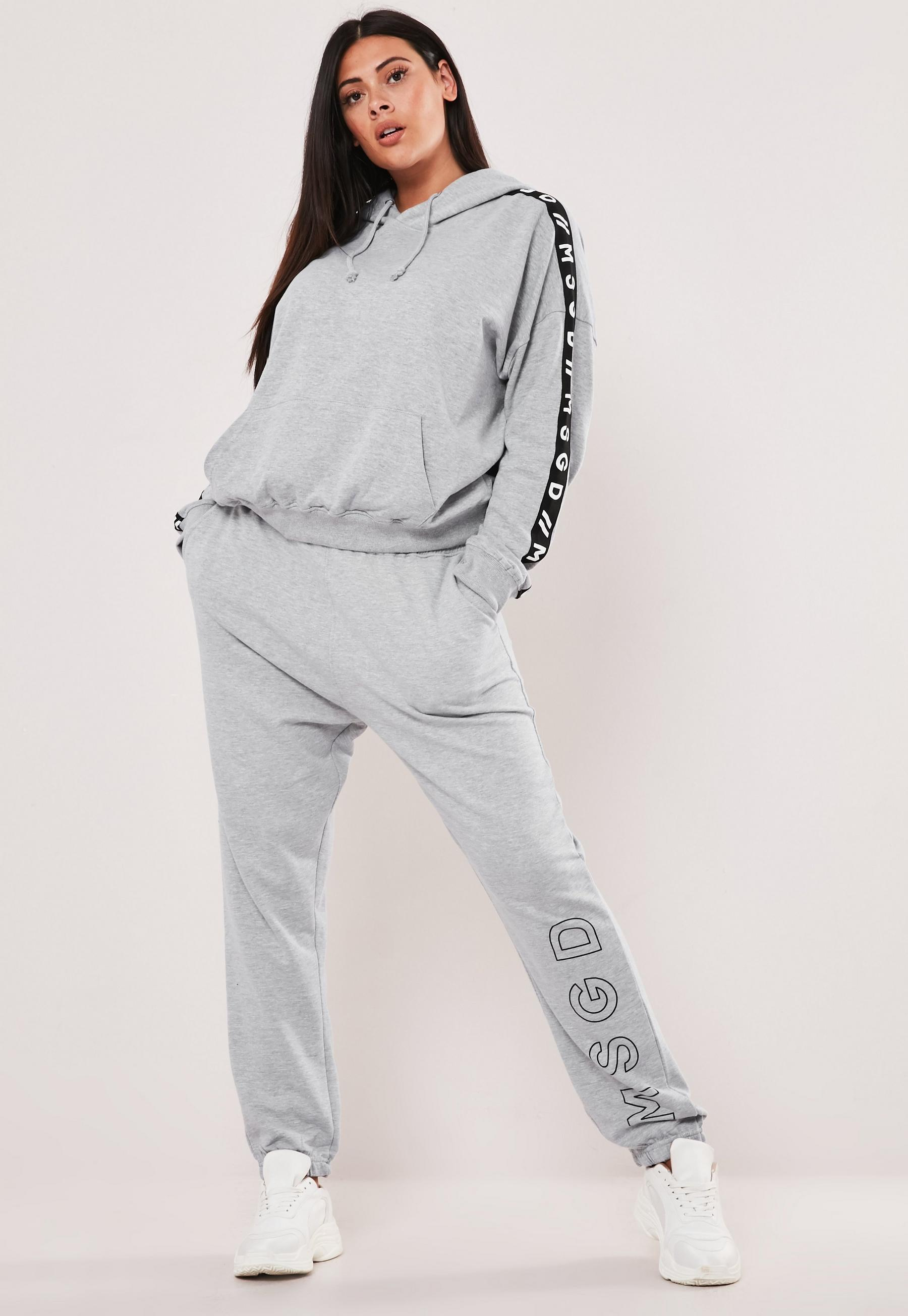 Plus Size Gray MSGD Joggers