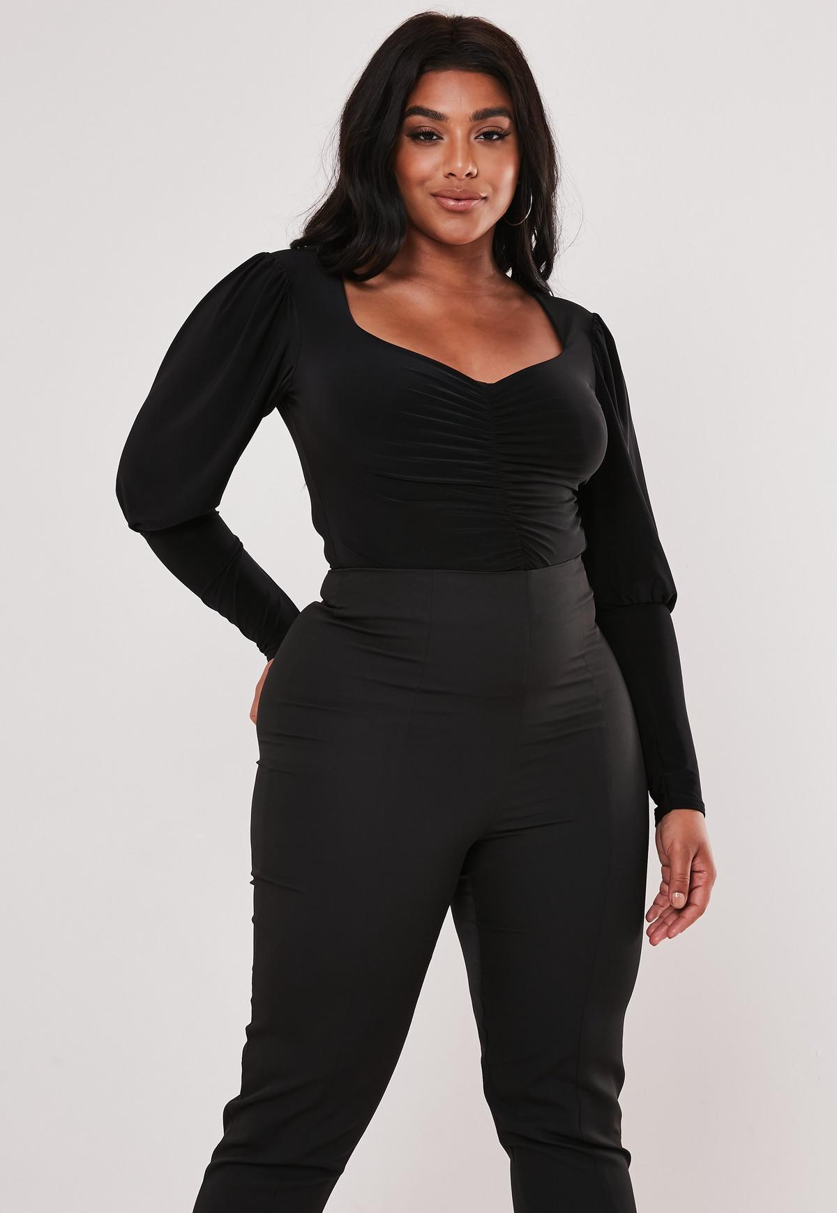 Moda   WING BLACK koszulowe body plus size