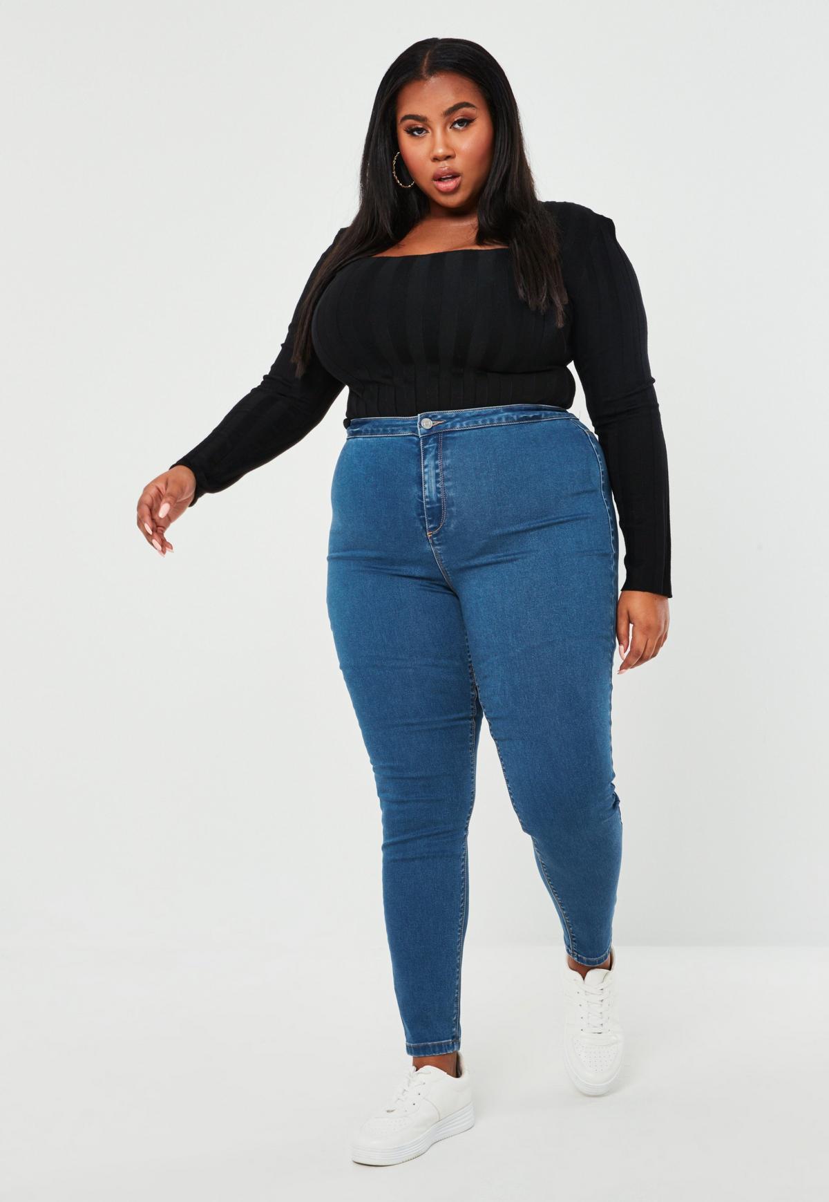 New Fashion Spring Autumn Women Jeans Plus Size Stretch