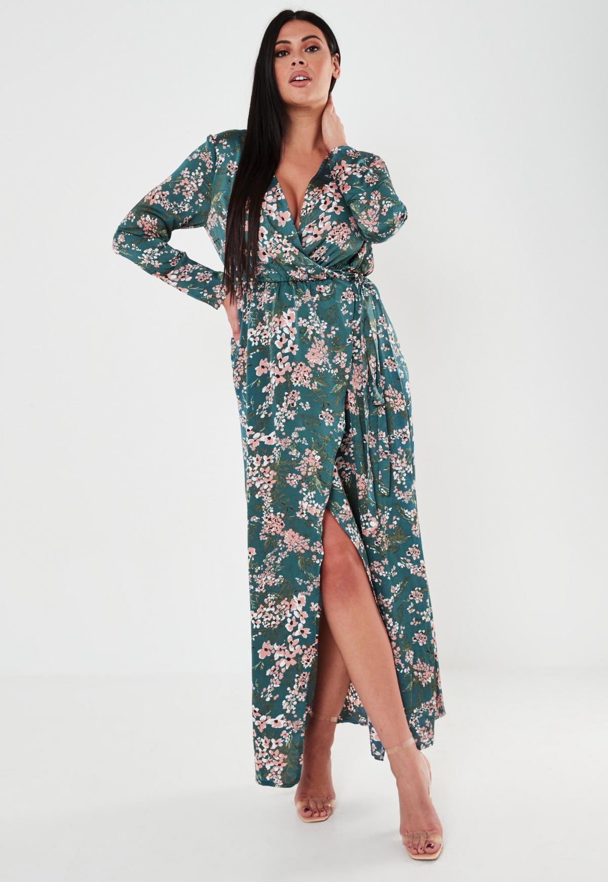 Plus Size Smocked Floral Maxi Sundress | Floral maxi, Plus