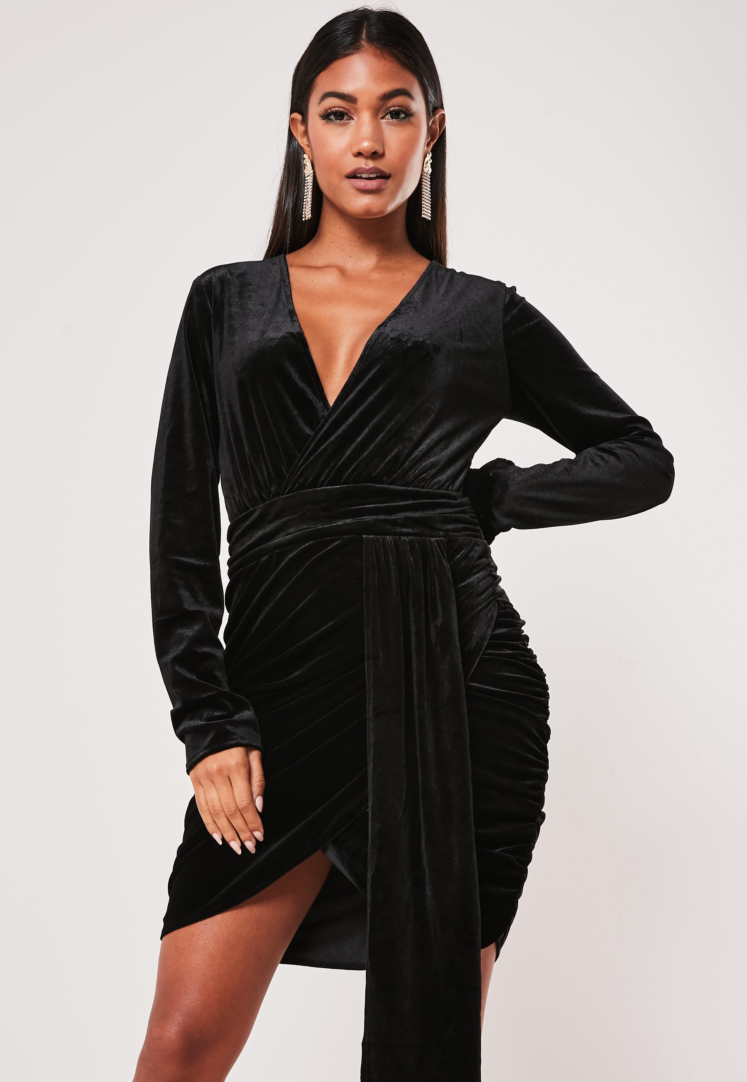 Velvet Dresses Crushed Velvet Velour Dresses Missguided
