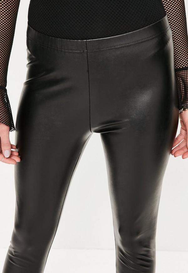 exclusive deals outlet nice shoes Petite Black Faux Leather Leggings