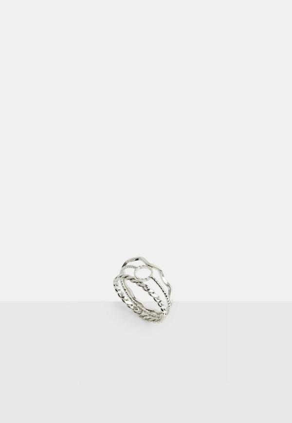 silver img rings shi products original in wire four modern stacking and shiny twisted collections hammered