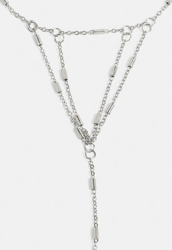 Silver Hand Chain Bracelet by Missguided