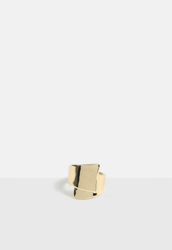 Gold Look Chunky Wrap Ring by Missguided