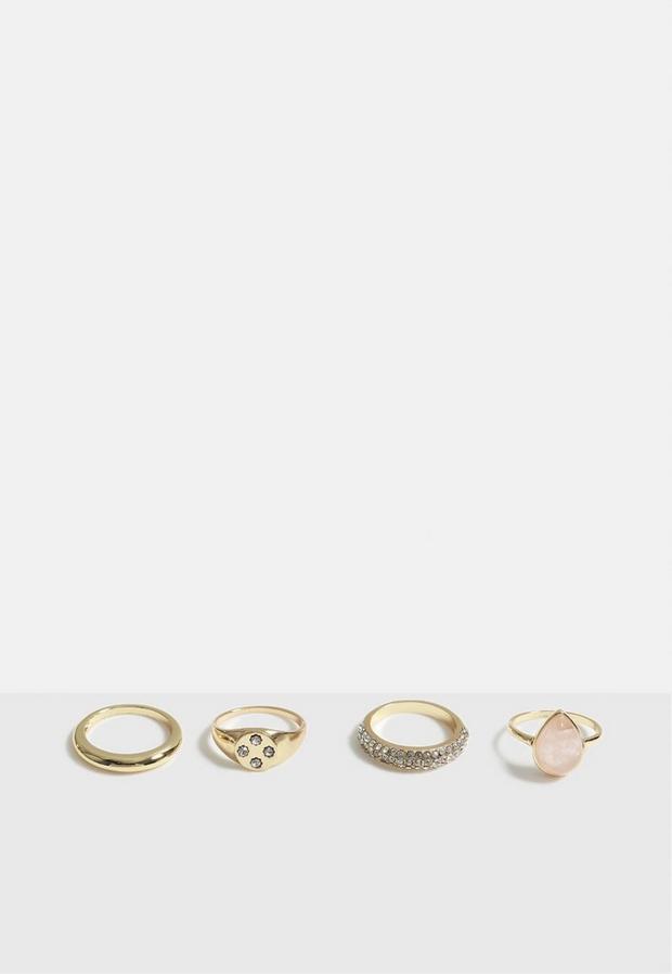 Missguided - Look Gem Ring Multi Pack - 2