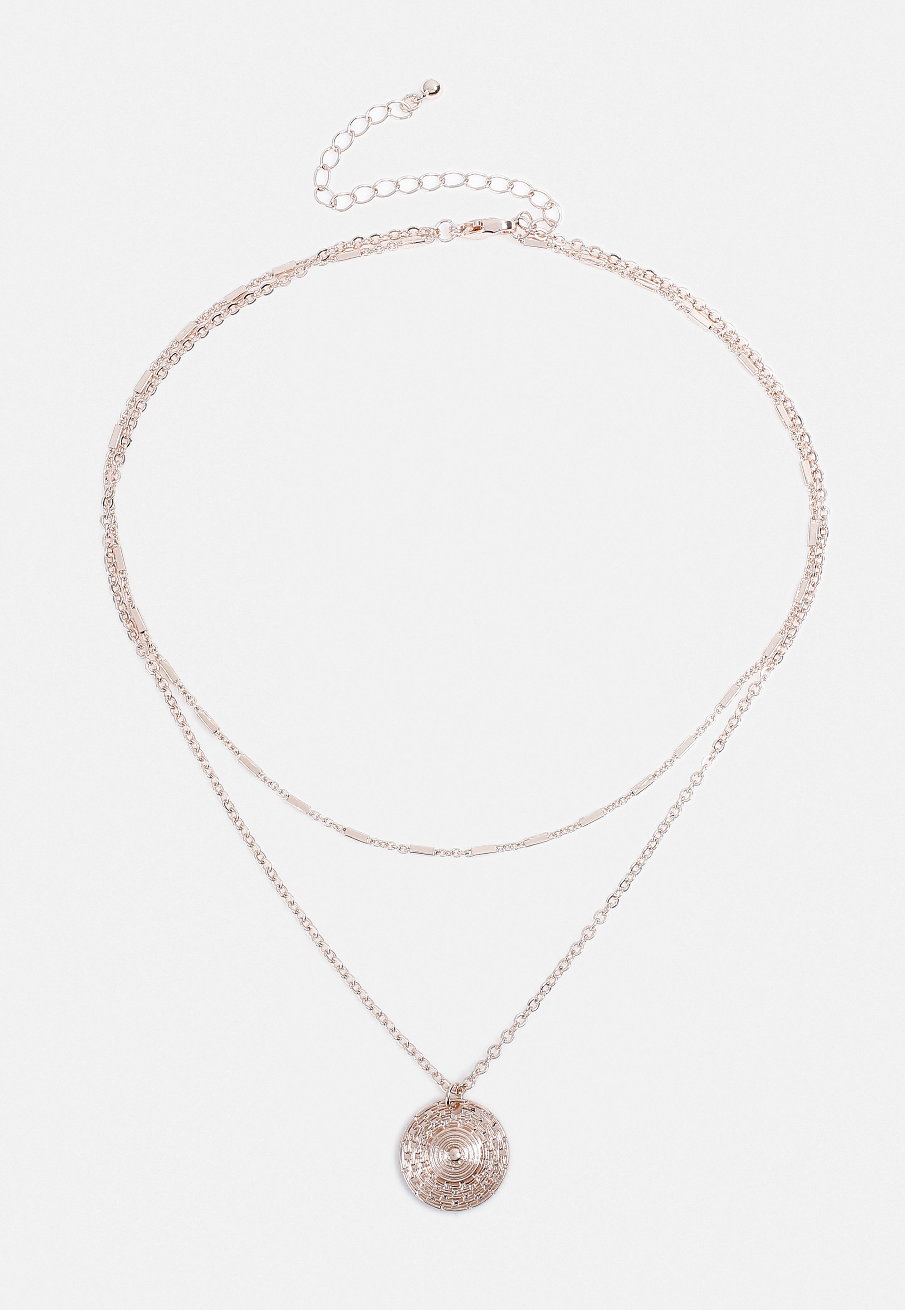 6f32858339f07 Rose Gold Look Egyptian Coin Necklace