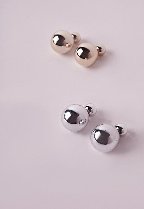 Twin Pack Double Sided Earrings