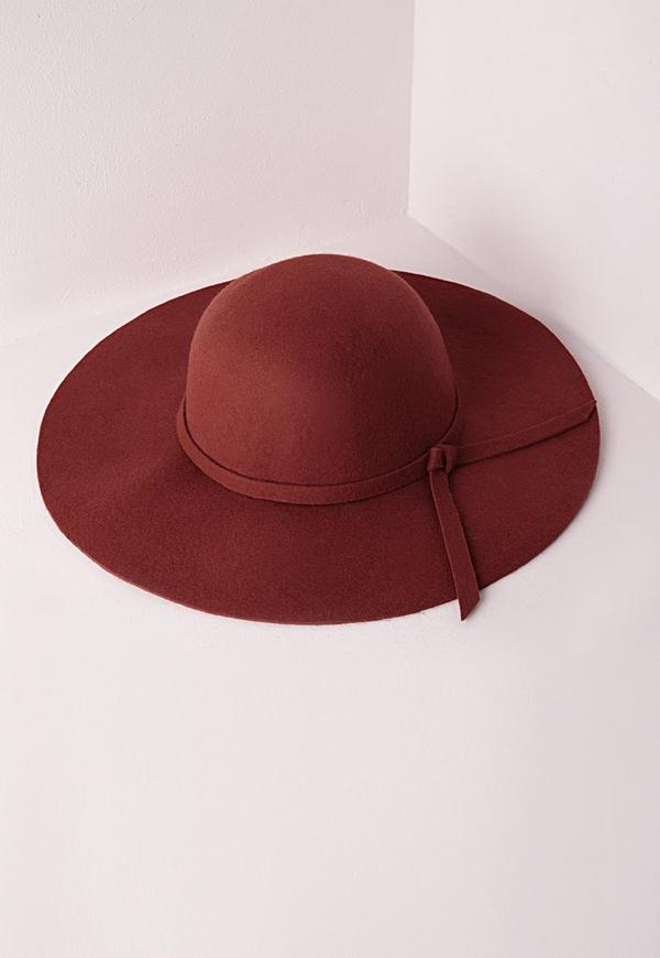 Dory Bow Detail Floppy Hat Rust