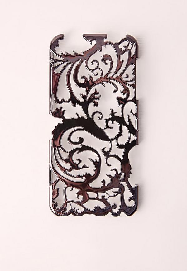 Floral Metallic iPhone 6+ Case