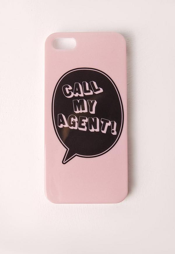 Call My Agent iPhone 5 Case Pink