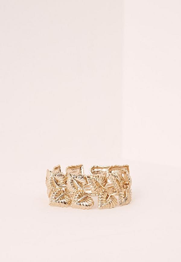 Leaf Detail Bracelet Gold