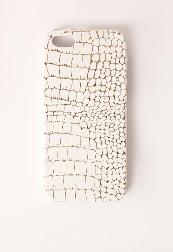 Snakeskin Iphone 5 Case White