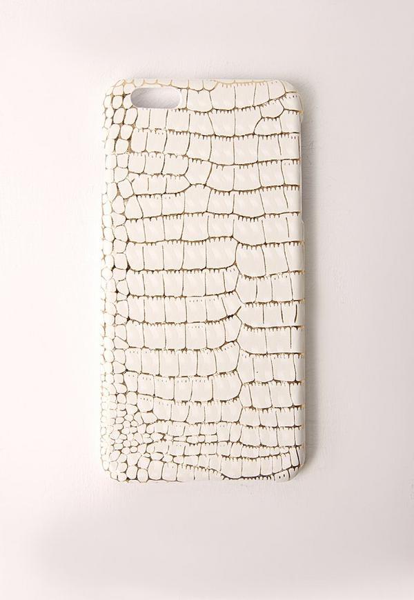 Snakeskin iPhone 6 Case White