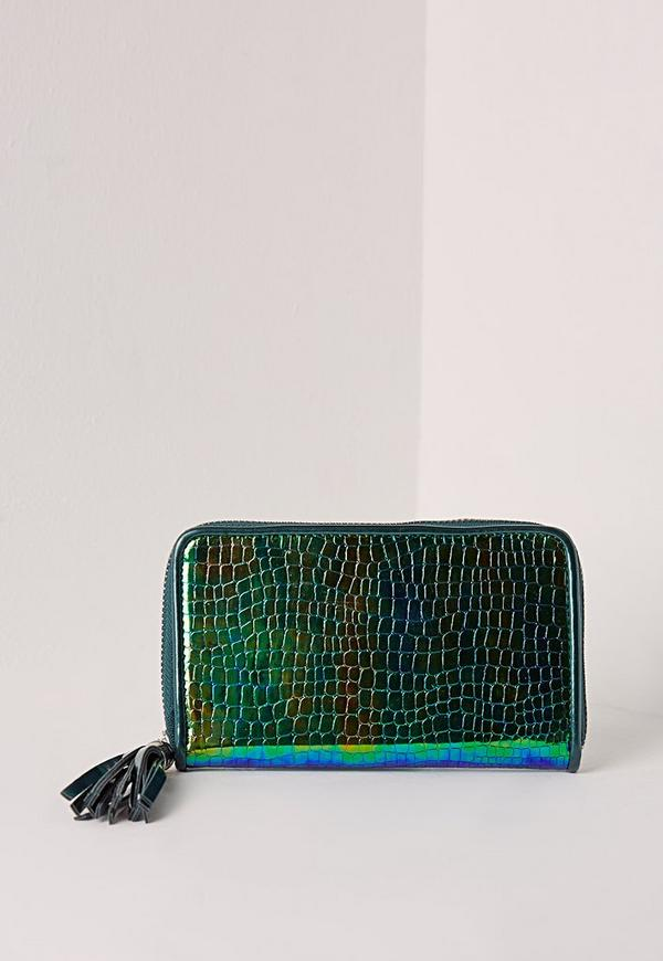 Holographic Purse Green
