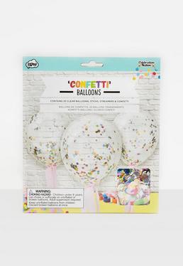 Clear Confetti Balloons
