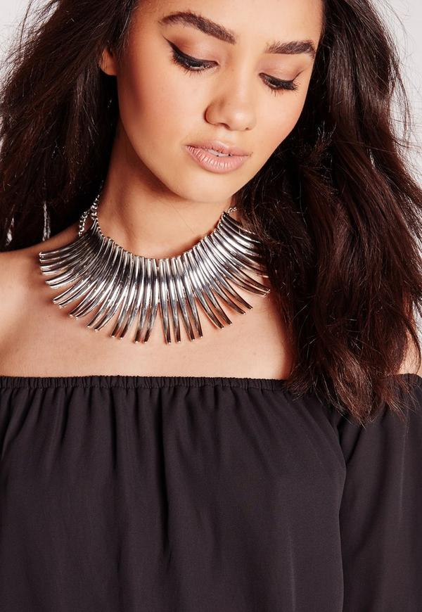Statement Choker Silver
