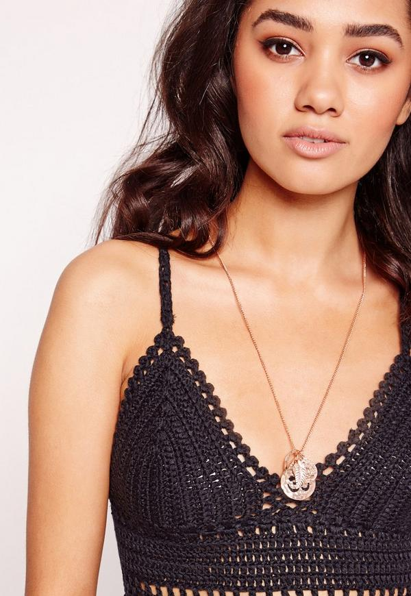 Om Symbol Long Necklace Gold