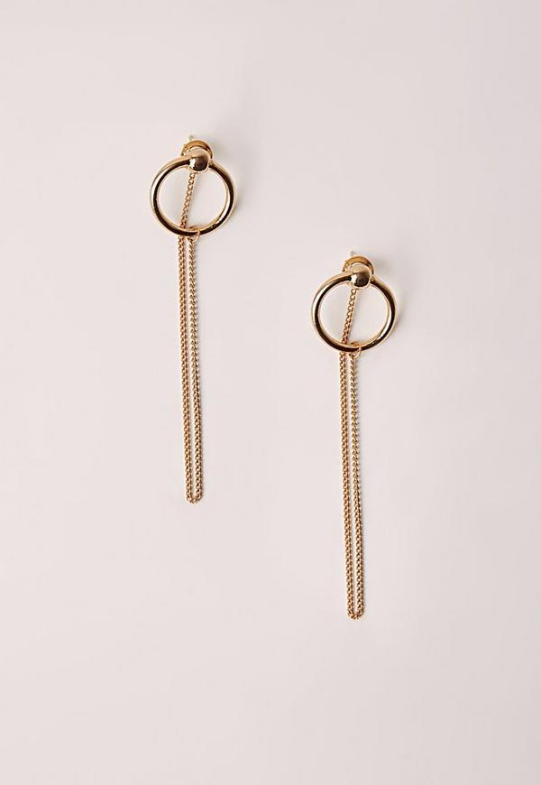 Chain Drop Earrings Gold