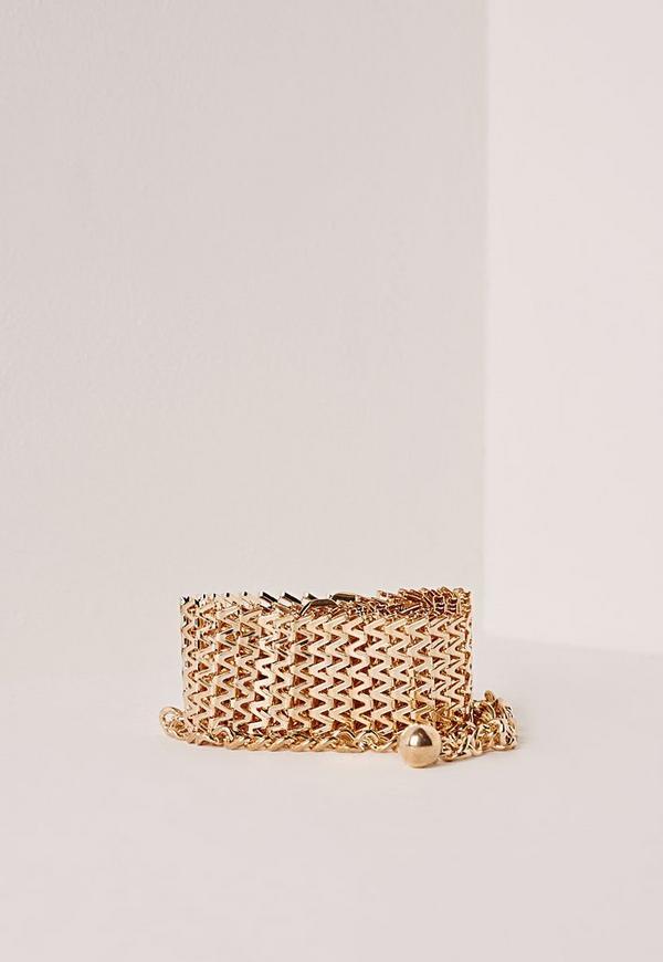 Metal Link Waist Belt Gold