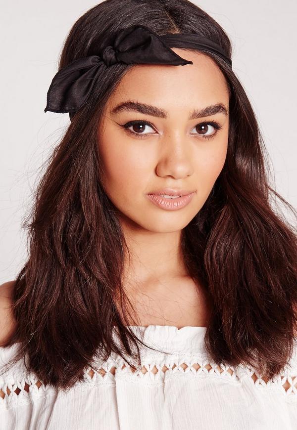 Bow Detail Hair Band Black