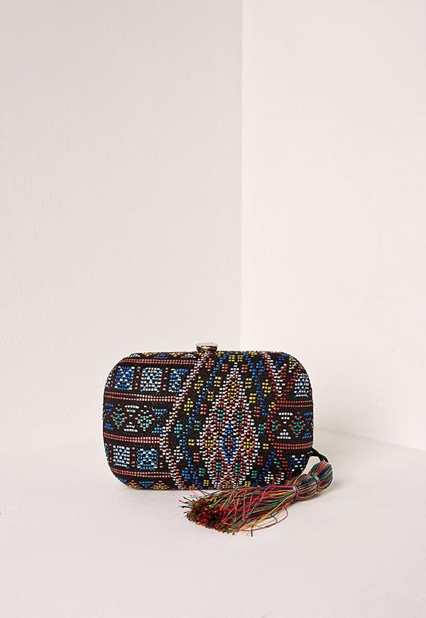Boho Tassel Embroidered Clutch Bag