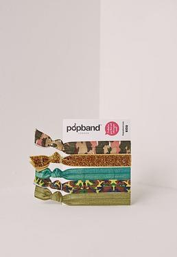 Lot d'élastiques Popband camouflage