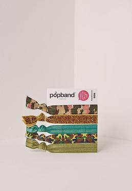 Popband – Haarband-Set in Camouflage