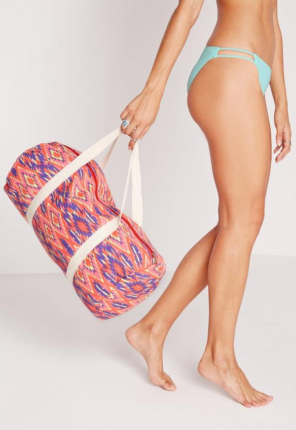 Aztec Print Sport Bag Multi